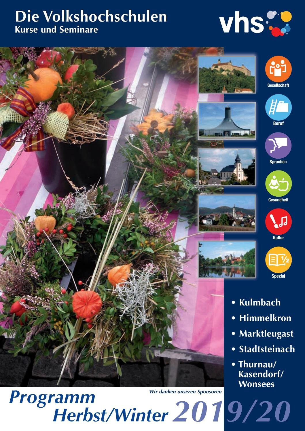 VHS Kulmbach Herbst Winter 2019 by Stadt Kulmbach issuu