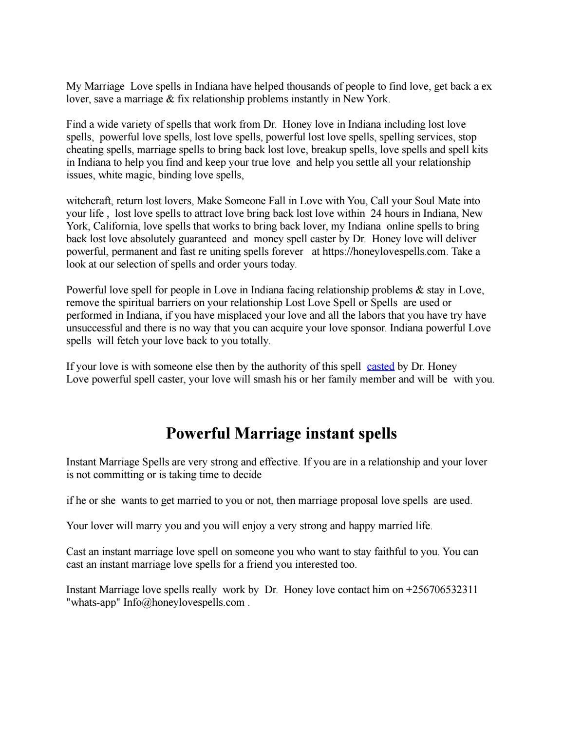 BEST MARRIAGE SPELLS by honey2lovespells - issuu