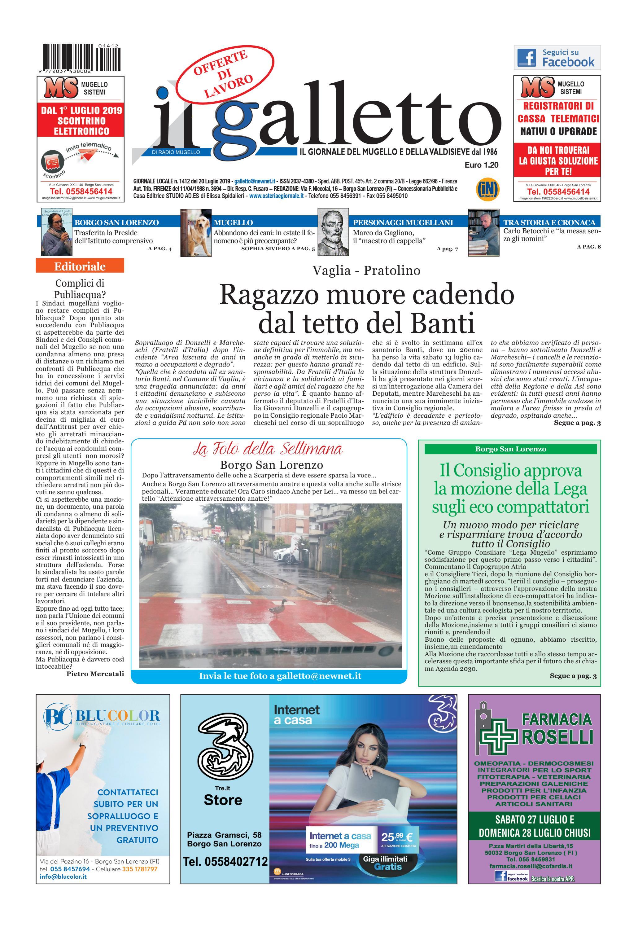 galletto 1412 del 20 luglio by Il Galletto Giornale issuu
