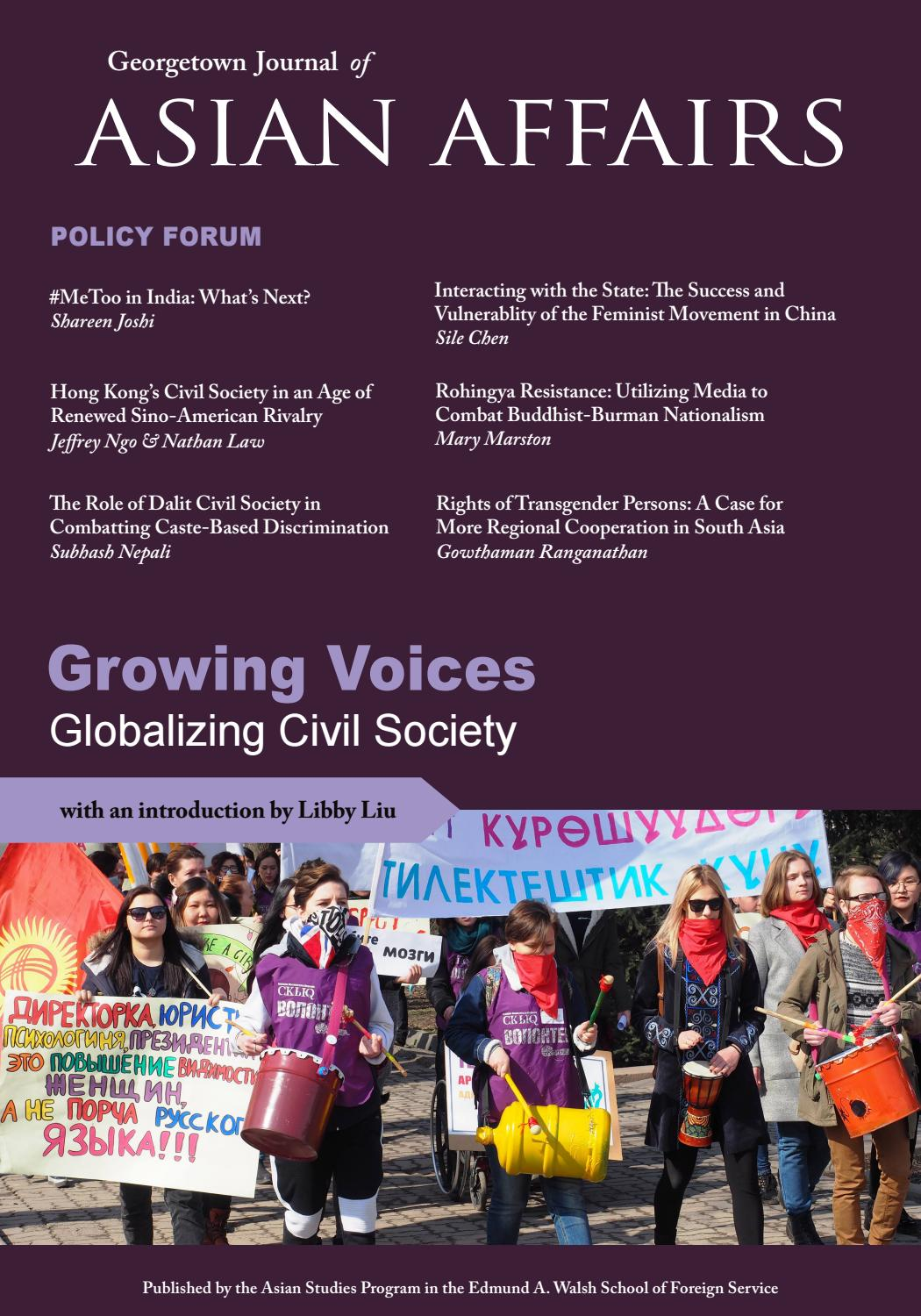 Georgetown Journal of Asian Affairs | Volume 5 | 2019 by
