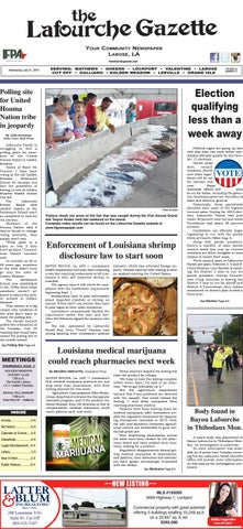 Wednesday, July 31, 2019 THE LAFOURCHE GAZETTE by The Lafourche