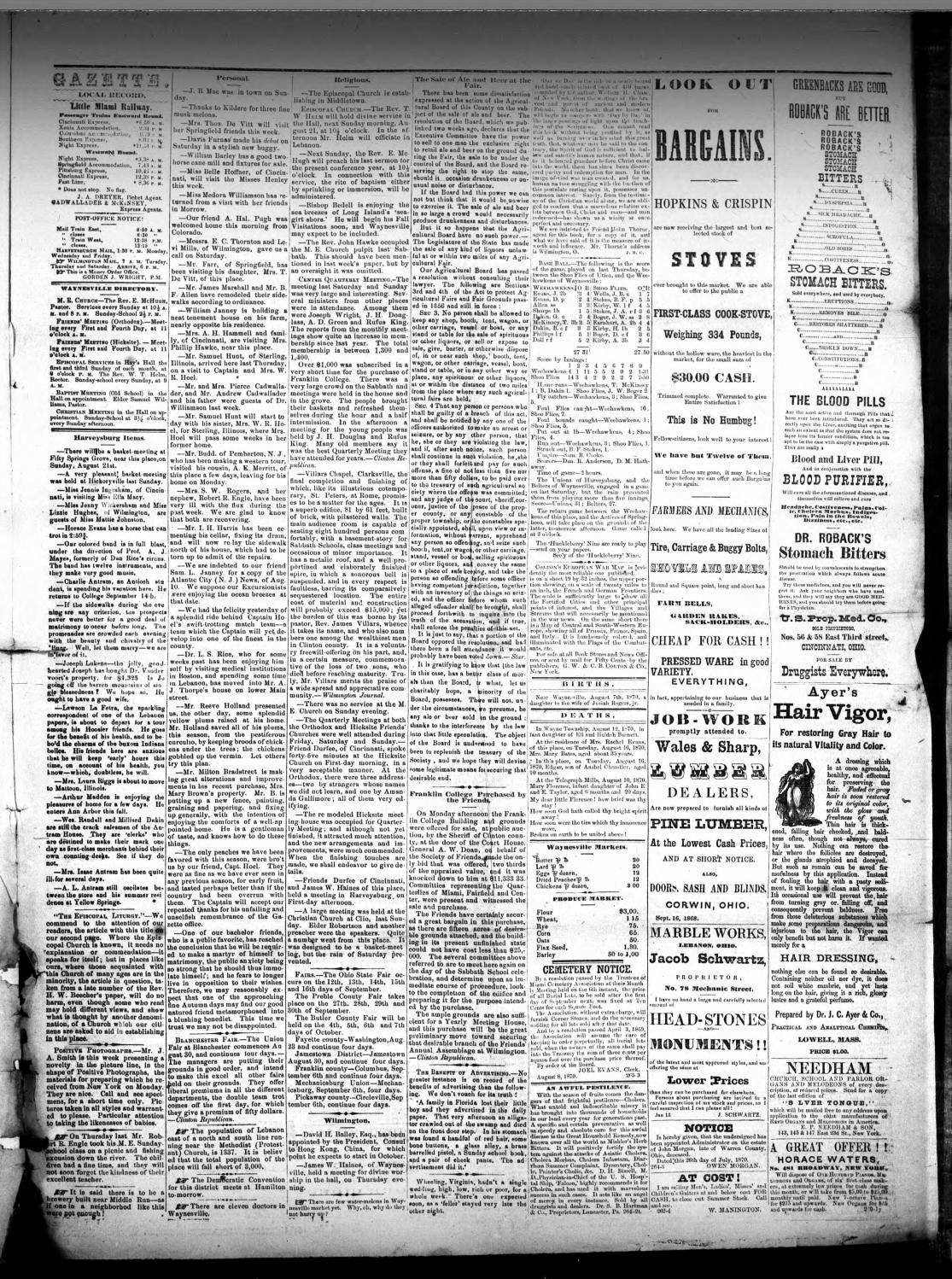 Miami Gazette August 24 1870 December 6 1871 By Marylcook Issuu