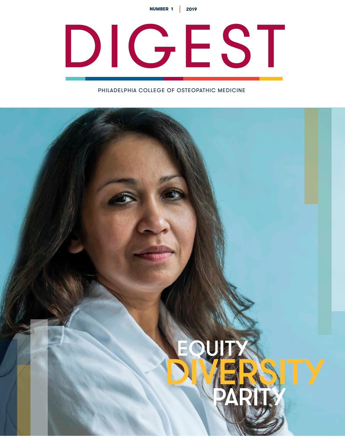 PCOM Digest 1 2019 by Philadelphia College of Osteopathic
