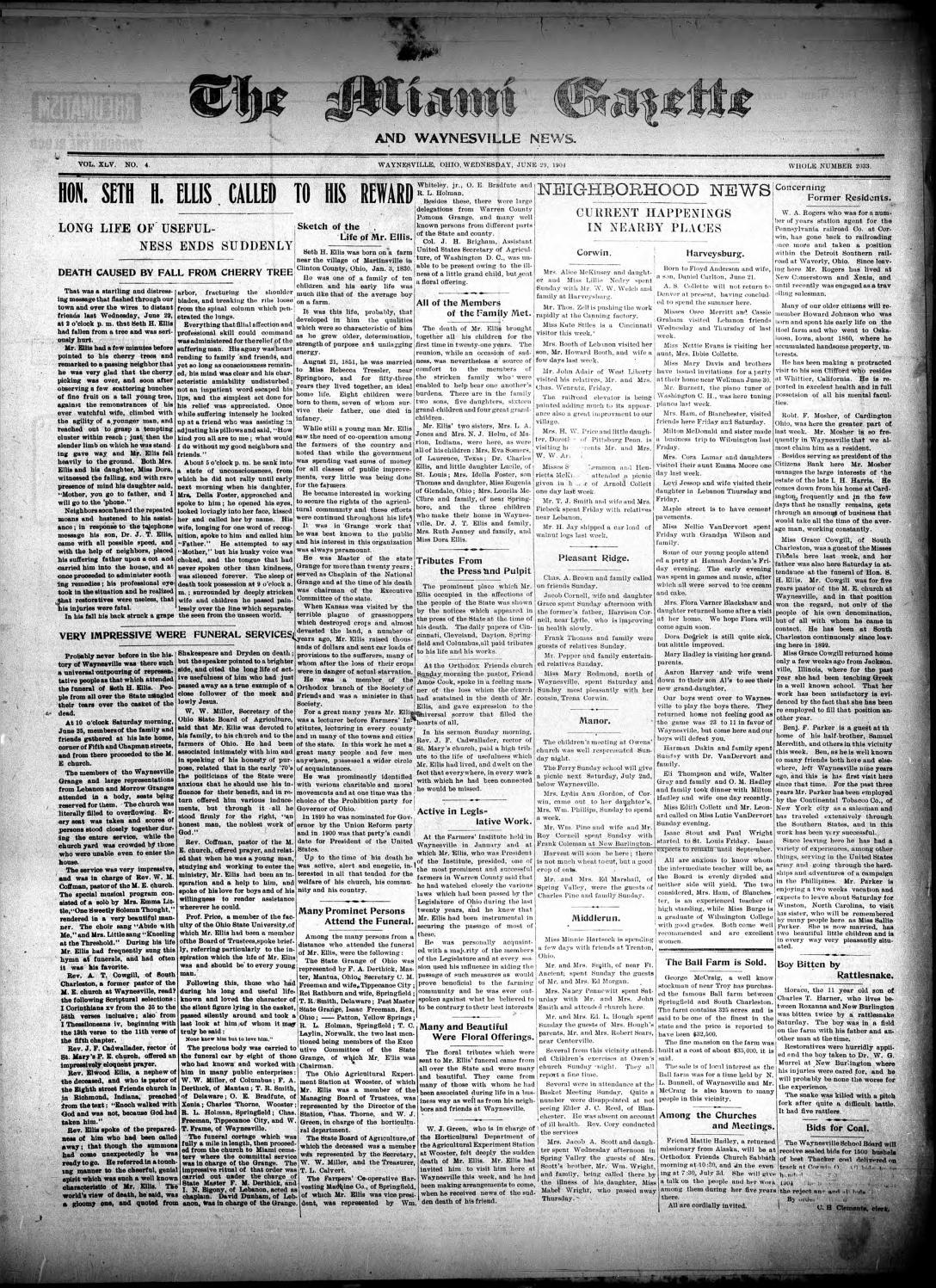 Miami Gazette January 6 1904 June 22 1904 by marylcook