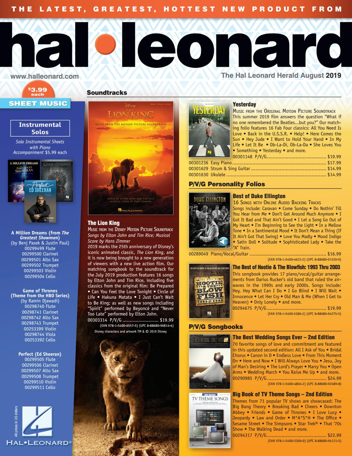 August 2019 HL Herald by Hal Leonard - issuu