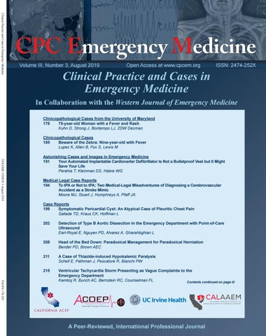 Clinical Practice and Cases in Emergency Medicine Volume 3 Issue 3