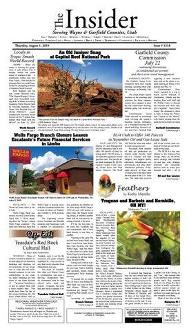 The Wayne Garfield County Insider August 1 2019 By Snapshot Multimedia Llc Issuu