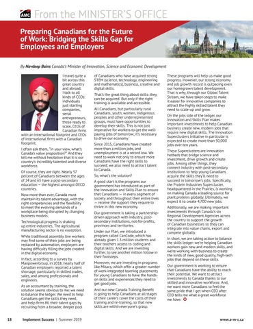 Page 18 of Preparing Canadians for the Future of Work