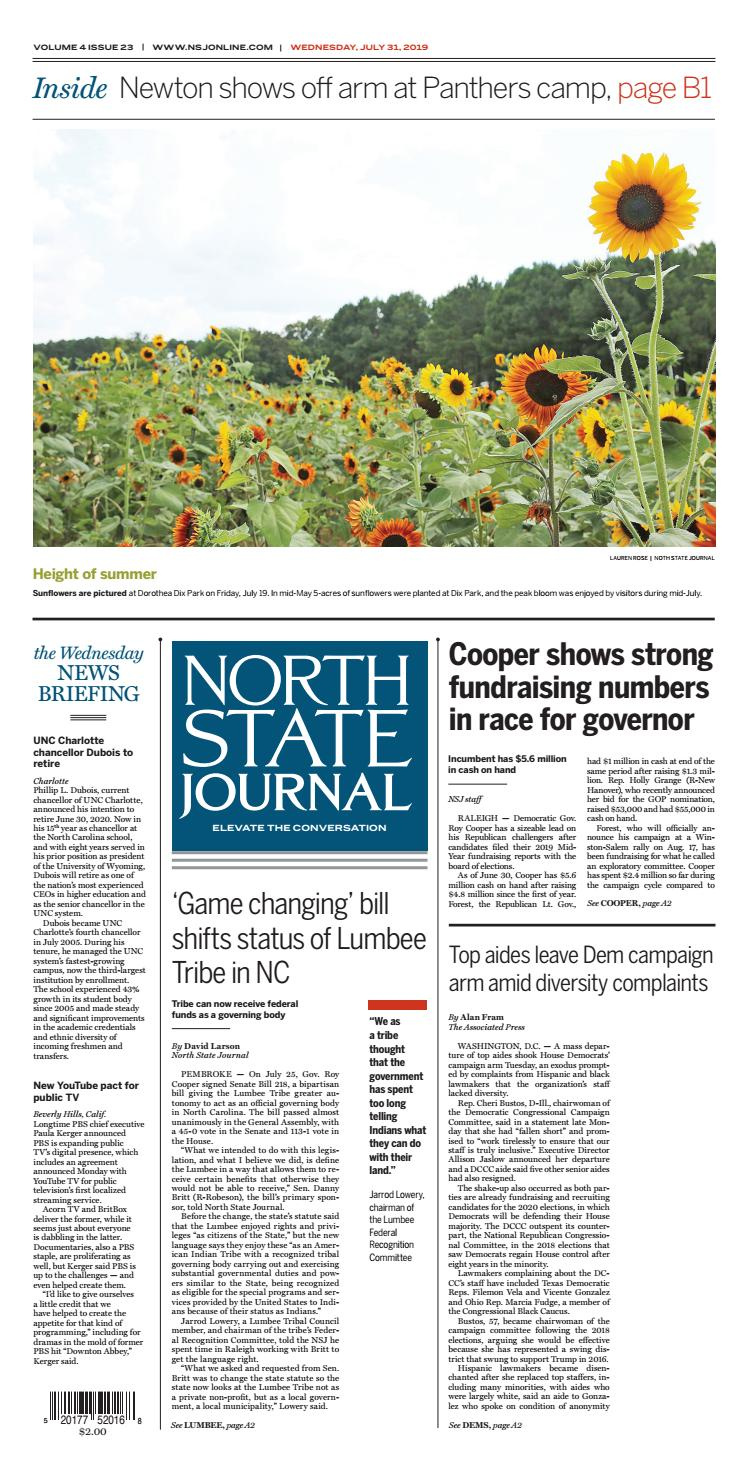North State Journal Vol  4, Issue 23 by North State Journal