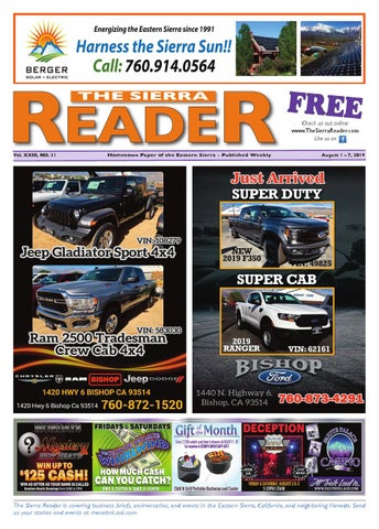 THE SIERRA READER AUGUST 1 2019 by The Sierra Reader - issuu