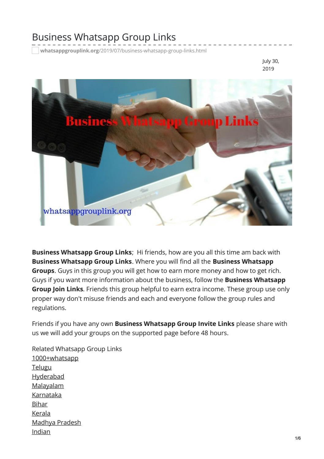 Business Whatsapp Group Links by whatsappgrouplinks77 - issuu