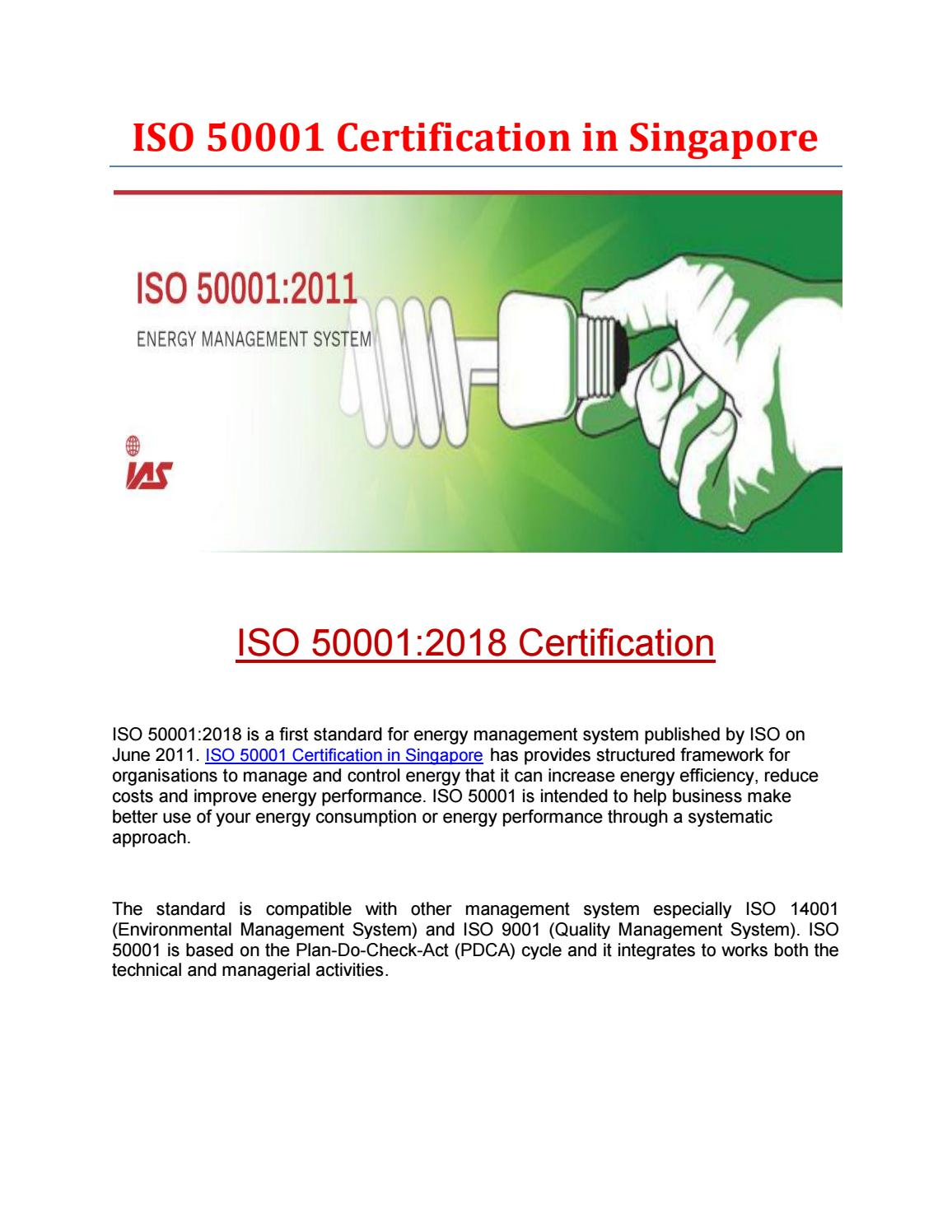 ISO 50001 Certification in Singapore by iassingapore - issuu