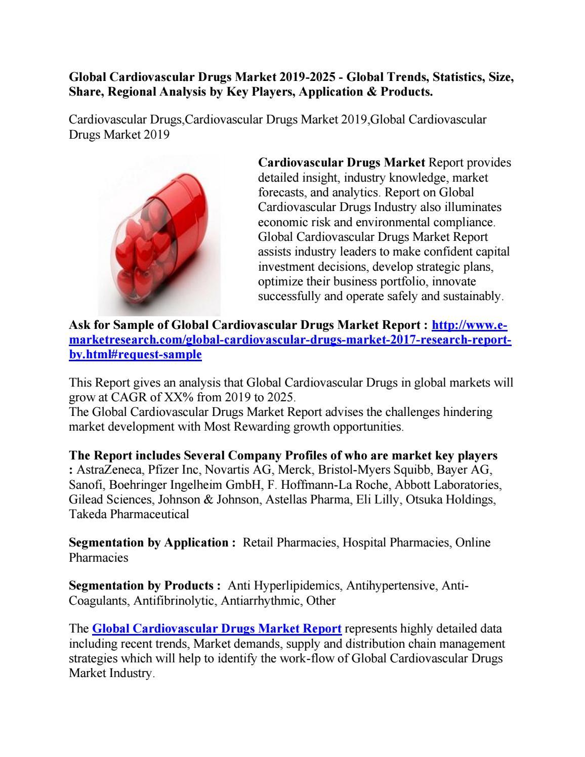 Global Cardiovascular Drugs Market 2019-2025 - Global Trends