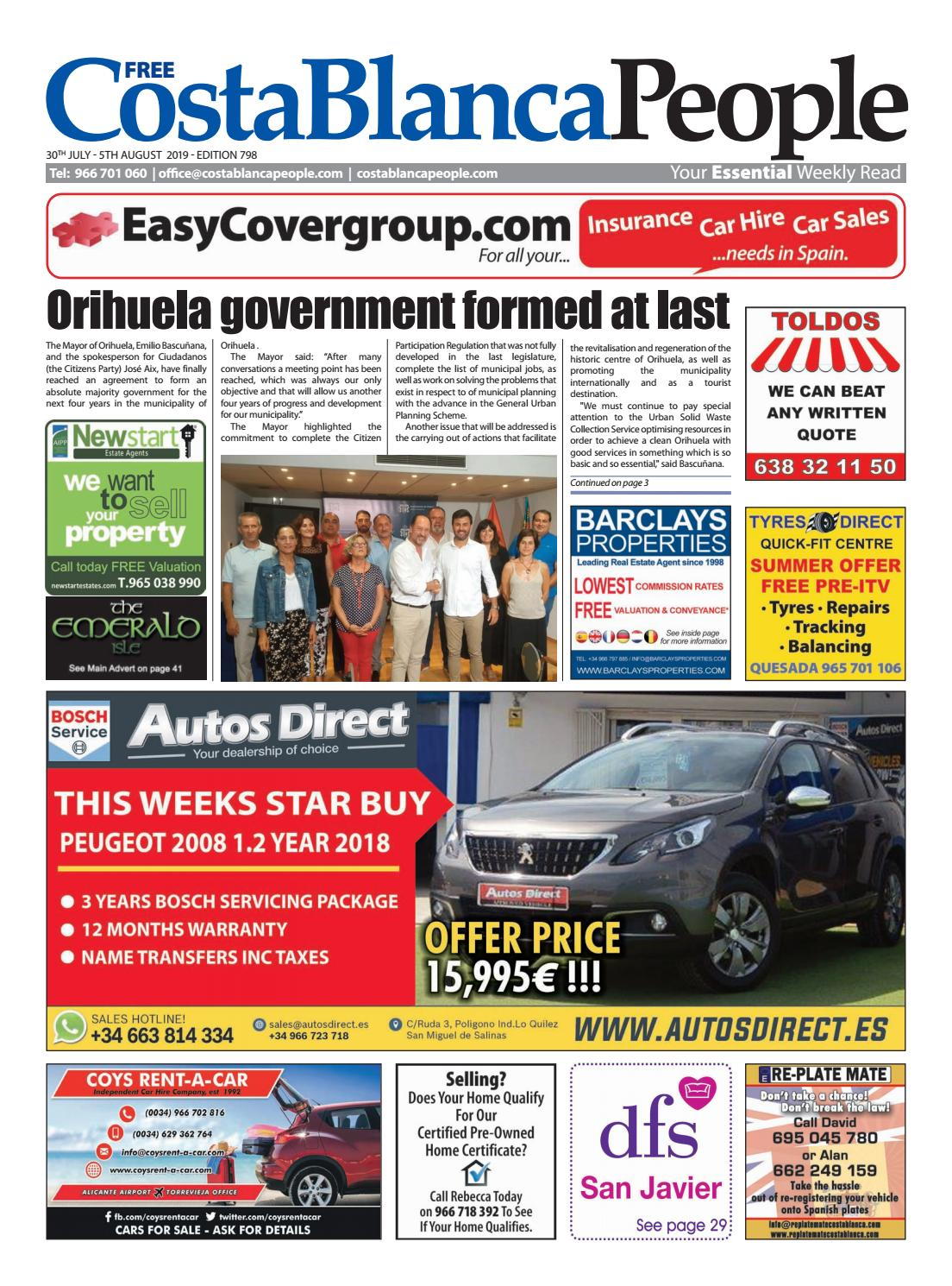 30 July 5 August 2019 By Costa Blanca People Issuu