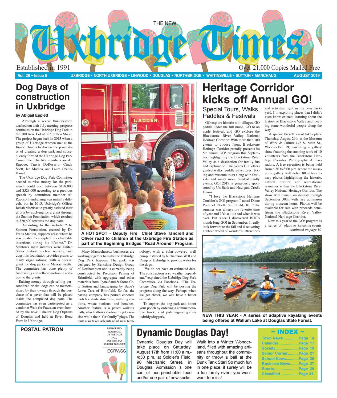 The New Uxbridge Times - August, 2019 by The New Uxbridge