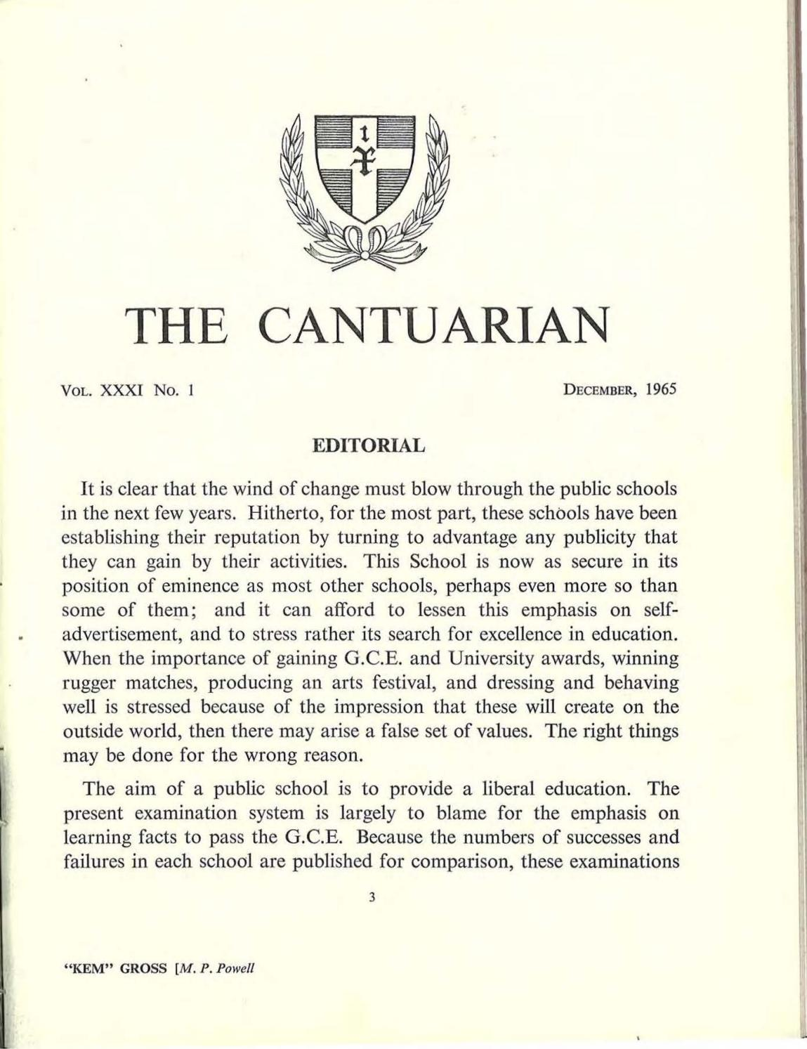 The Cantuarian 1965 - 1967 by OKS Association - issuu
