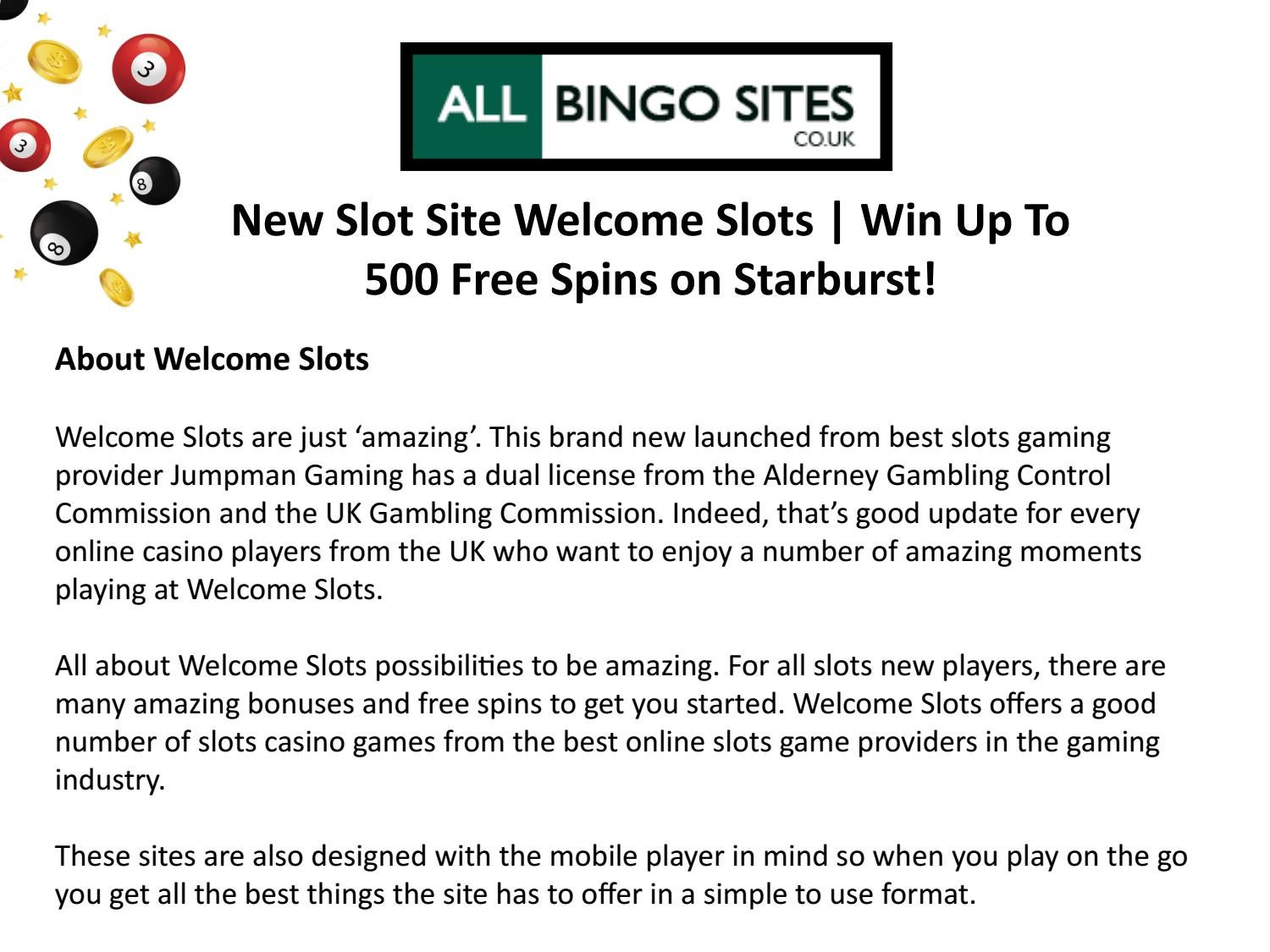 New Slot Site Welcome Slots Win Up To 500 Free Spins On