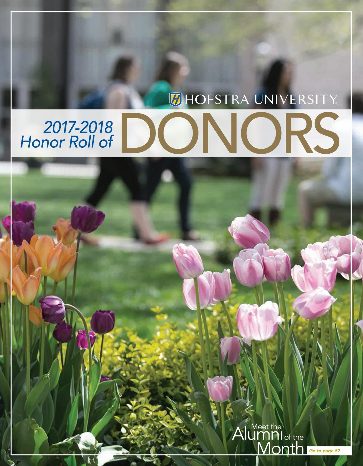 2017-2018 Honor Roll of Donors by Hofstra University - issuu