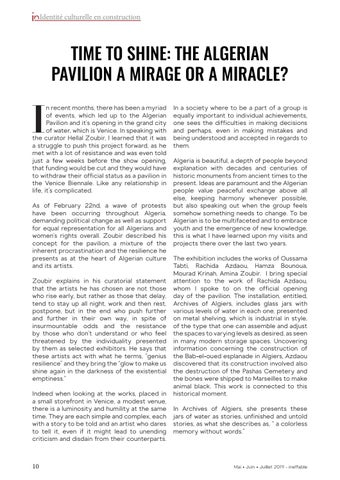 Page 10 of Time to Shine: the Algerian Pavilion a mirage or a miracle?