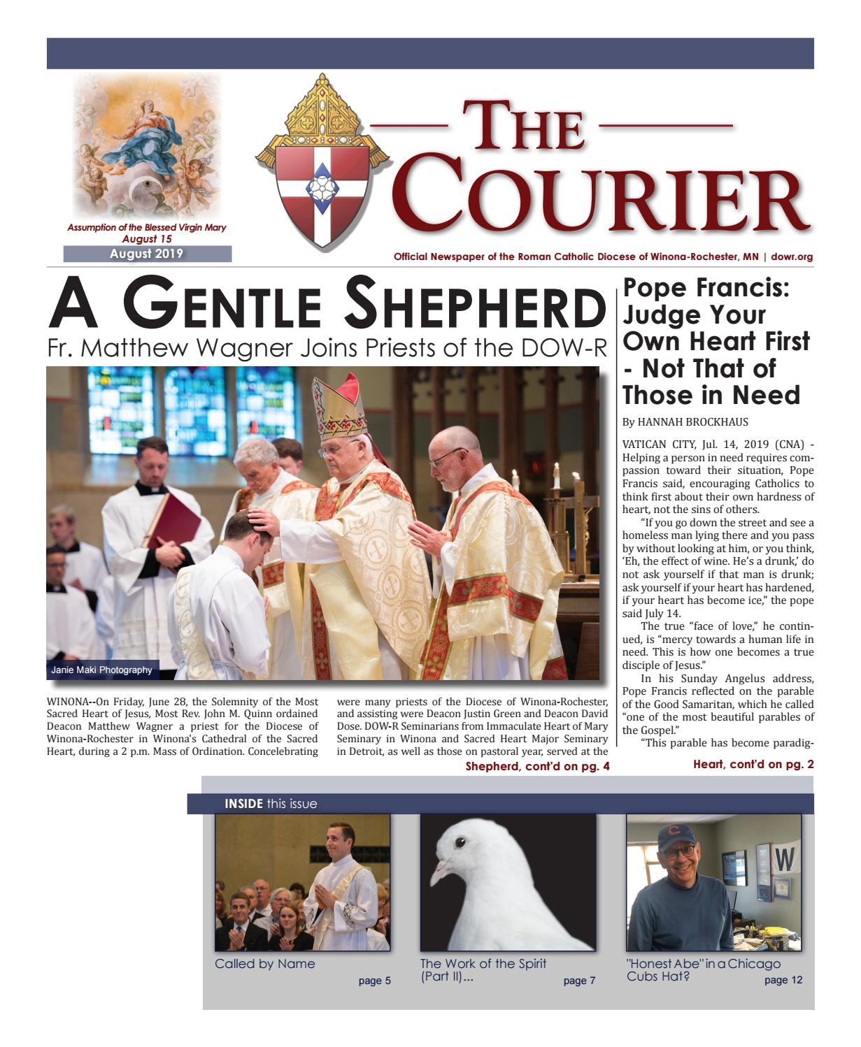 The Courier - August 2019 by Diocese of Winona-Rochester - issuu