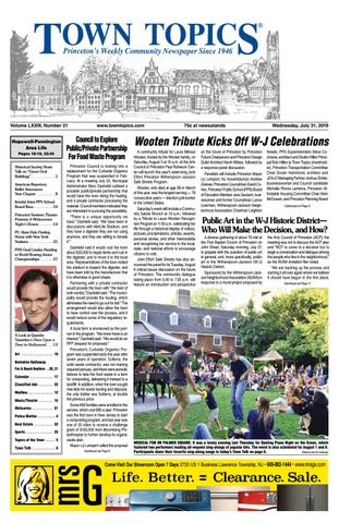 Town Topics Newspaper, July 31 by Witherspoon Media Group