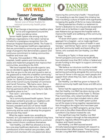 Page 41 of Tanner Among Foster G. McGaw Finalists!