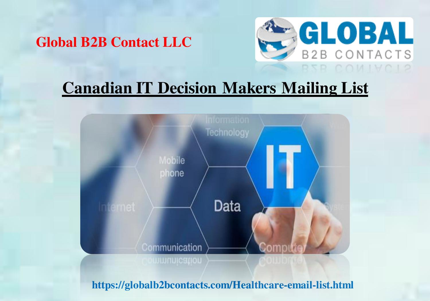 Canadian IT Decision Makers Mailing List by williamshaw - issuu