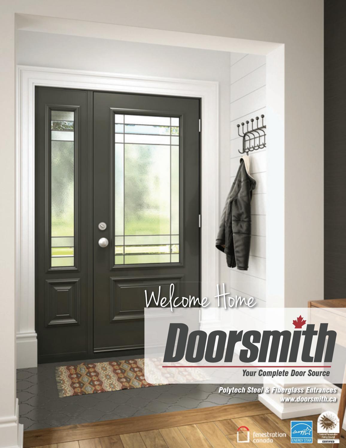 Doorsmith welcome home exterior door brochure by cansave