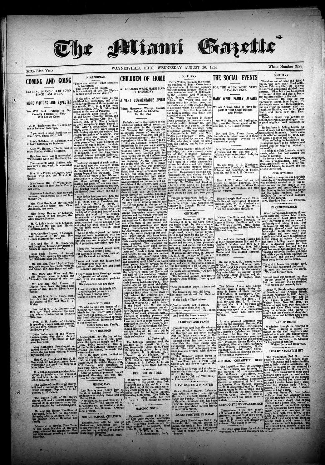 Miami Gazette August 26, 1914 - March 3, 1915 by marylcook