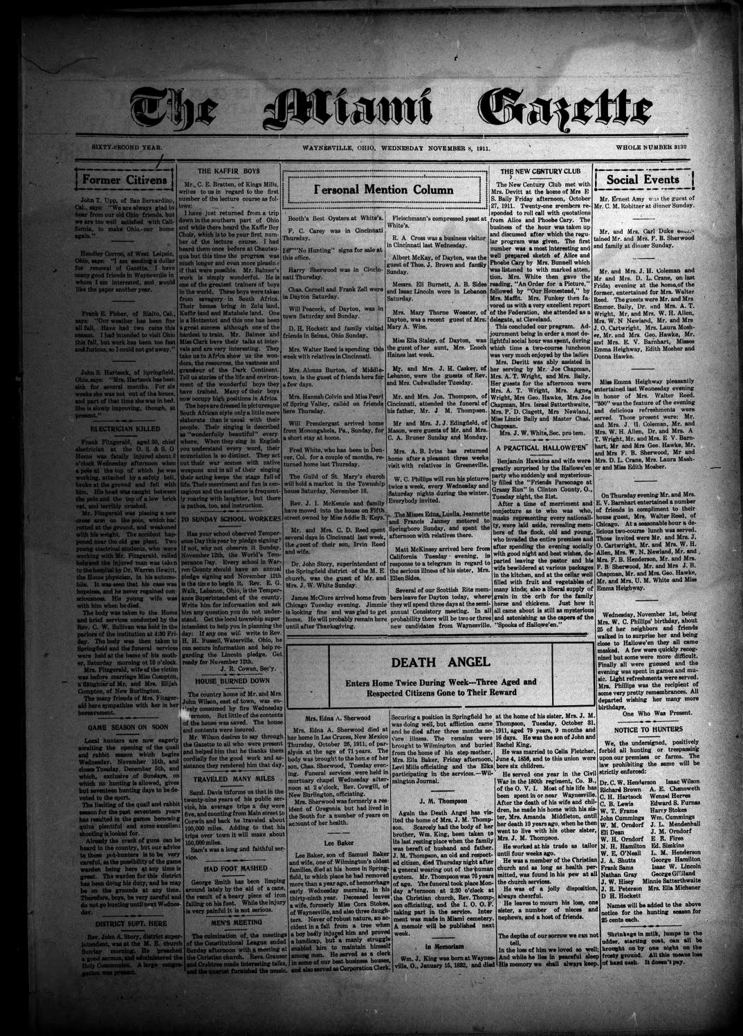 Miami Gazette November 8 1911 May 1 1912 by marylcook