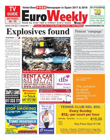 Euro Weekly News Costa Del Sol 1 7 August 2019 Issue