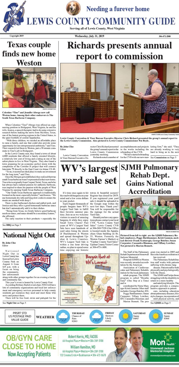 Lewis County Community Guide July 31, 2019 by Mountaineer