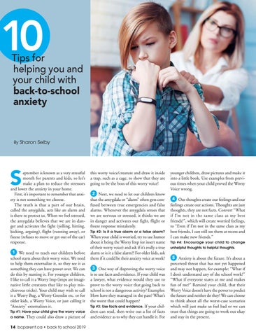 Page 14 of Tips for helping you and your child with back-to-school anxiety