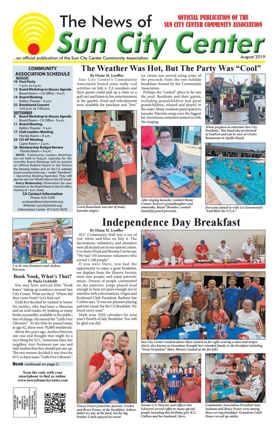 News Of Sun City Center August 2019 By The News Of Sun City Center