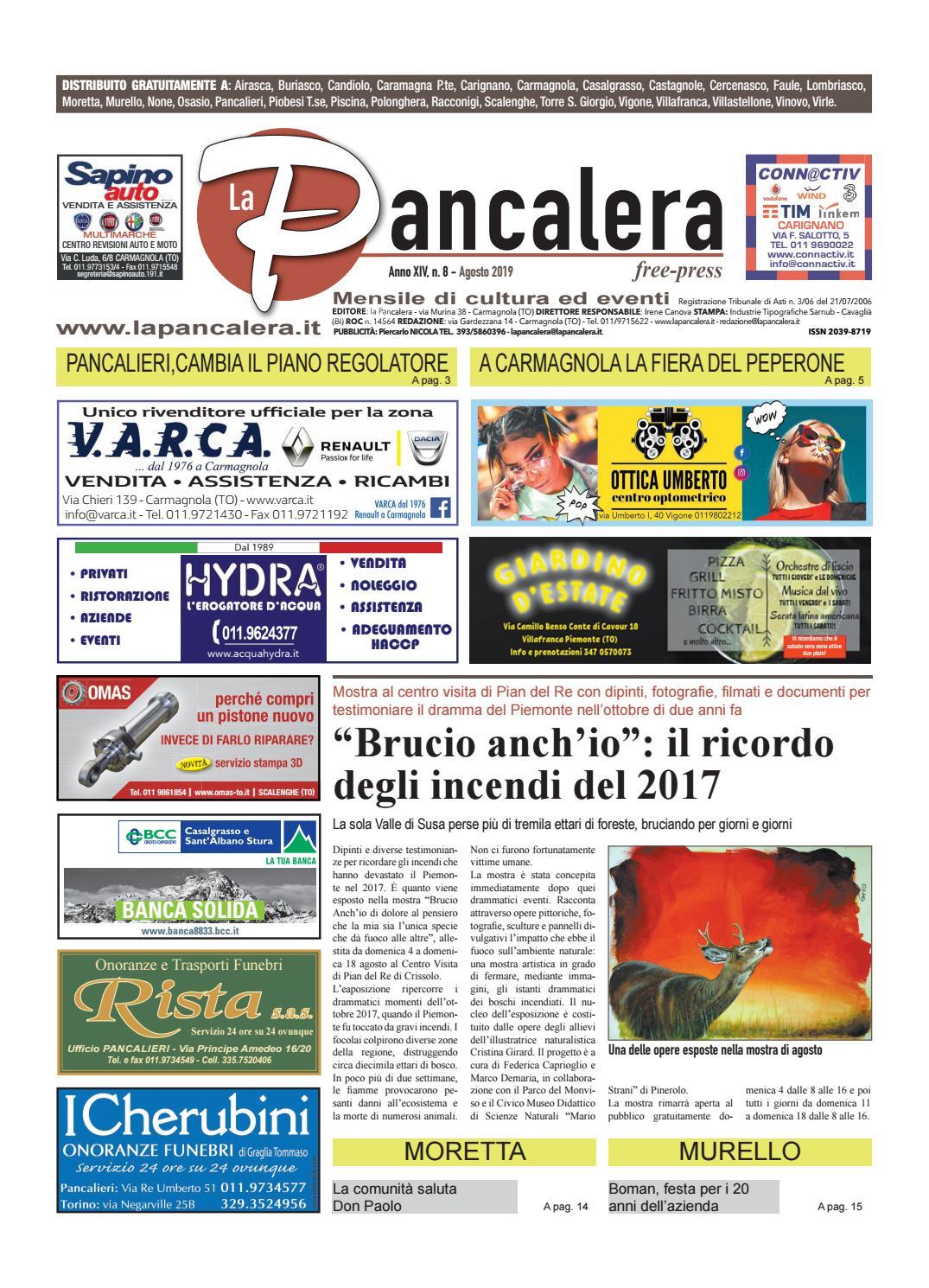 Centro Del Materasso Carmagnola.La Pancalera Agosto 2019 By La Pancalera Issuu