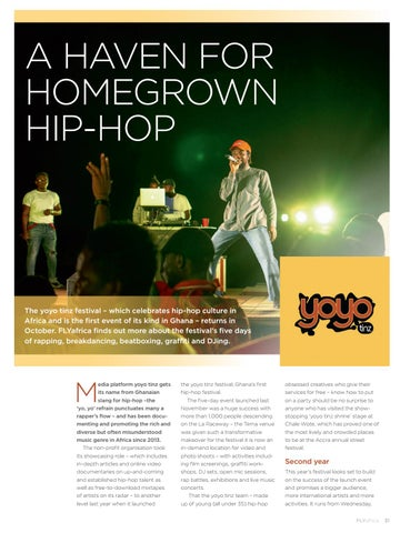 Page 33 of Festival is a haven for hip-hop in Accra
