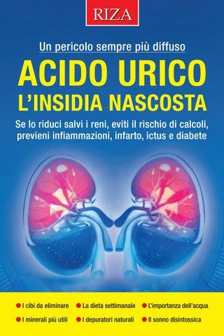 tabella di dieta per il paziente acido urico