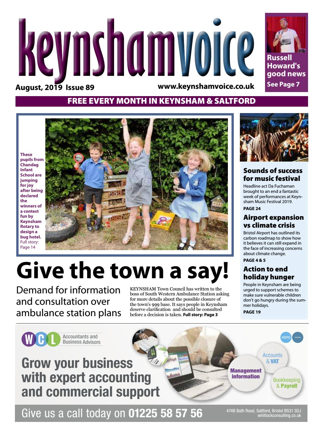 Keynsham Voice August 2019 By Emma Cooper Issuu