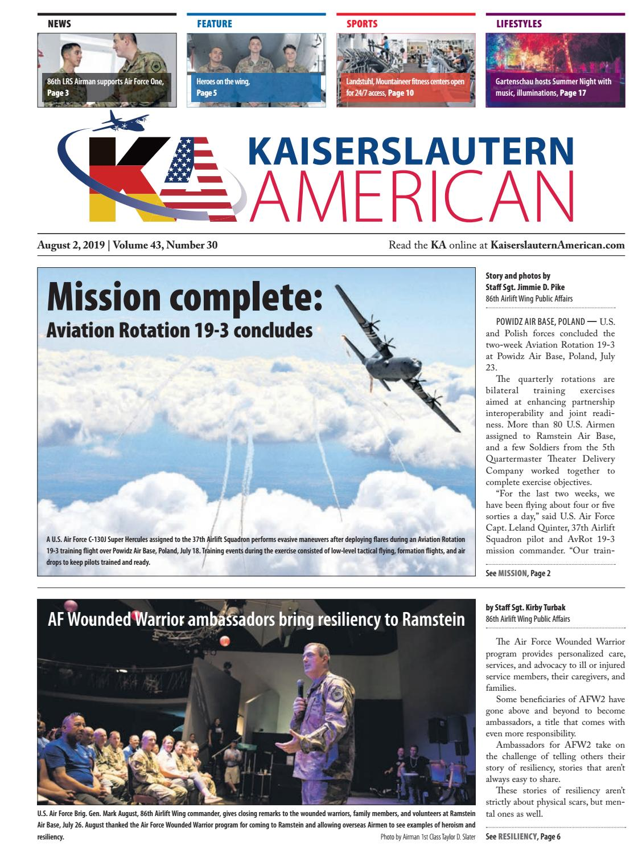 Kaiserslautern American, August 2, 2019 by AdvantiPro GmbH