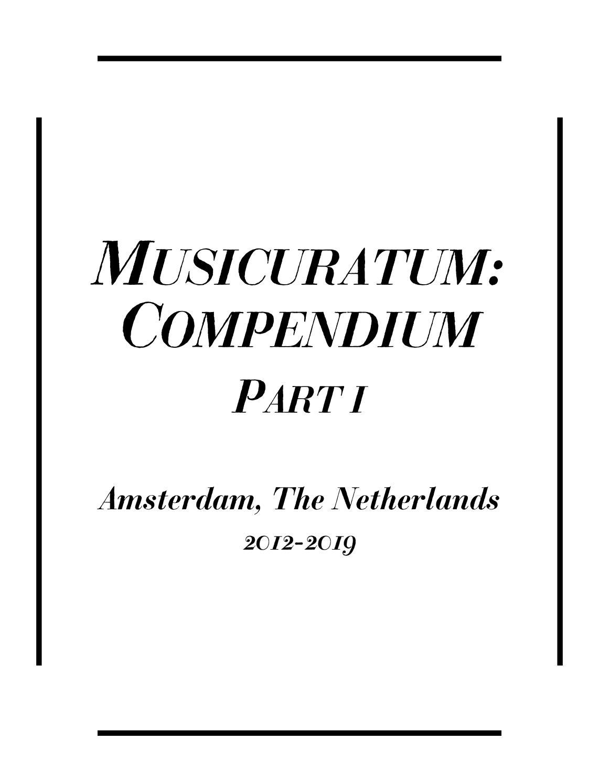 Compendium (I) by Musicuratum - issuu
