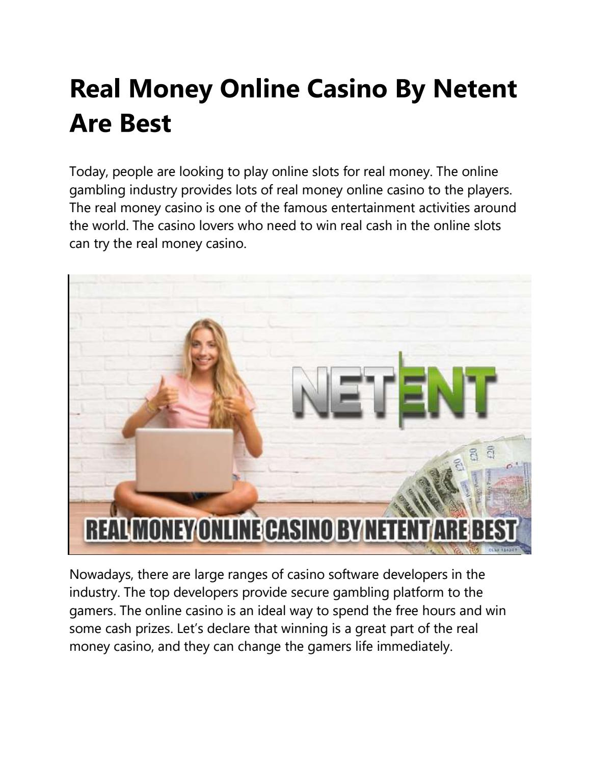 Real Money Online Casino By Netent Are Best By Olivecasino Issuu