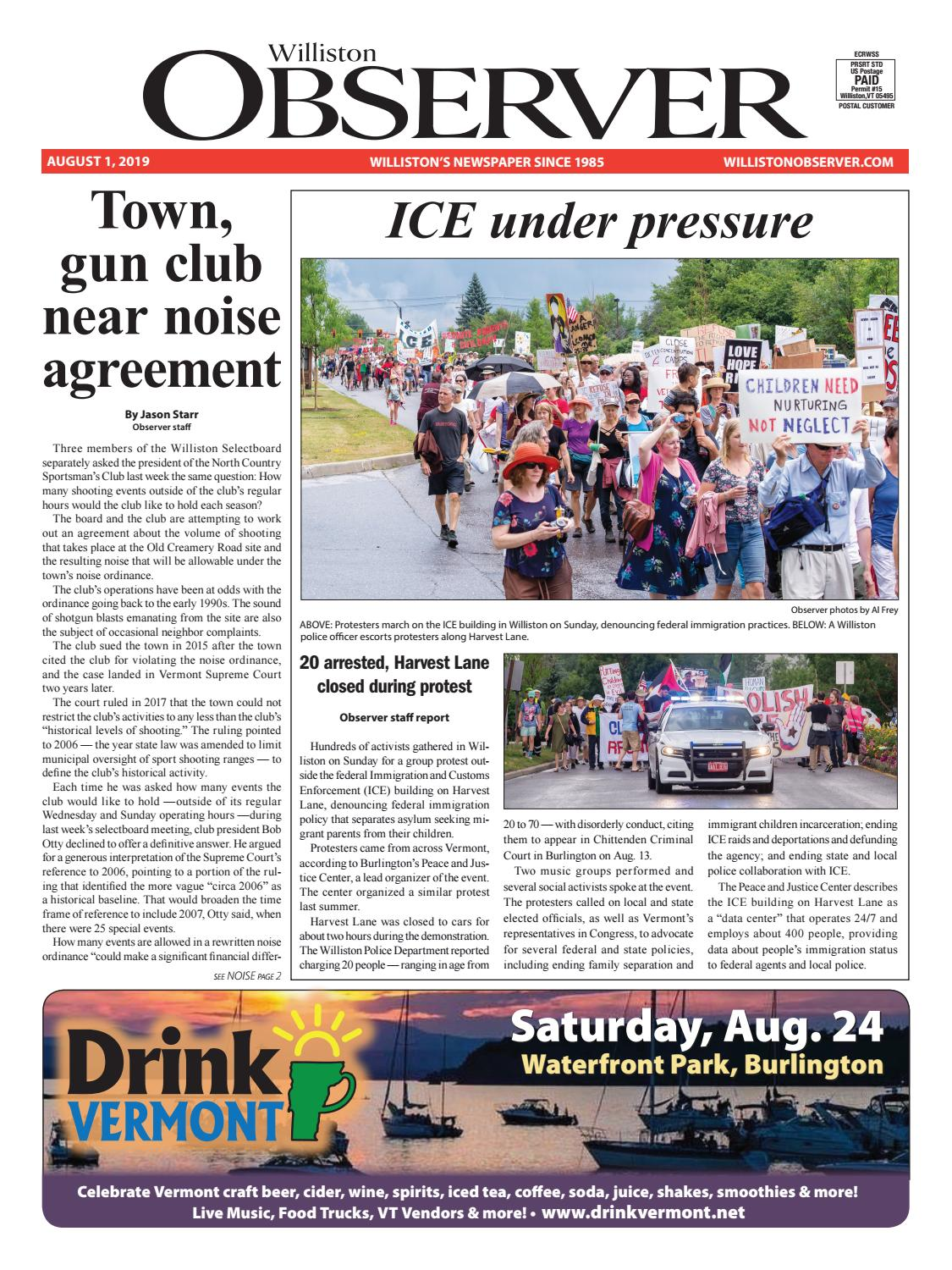 Colchester Vermont Events July 13 2020.Williston Observer 08 01 19 By Williston Publishing Issuu