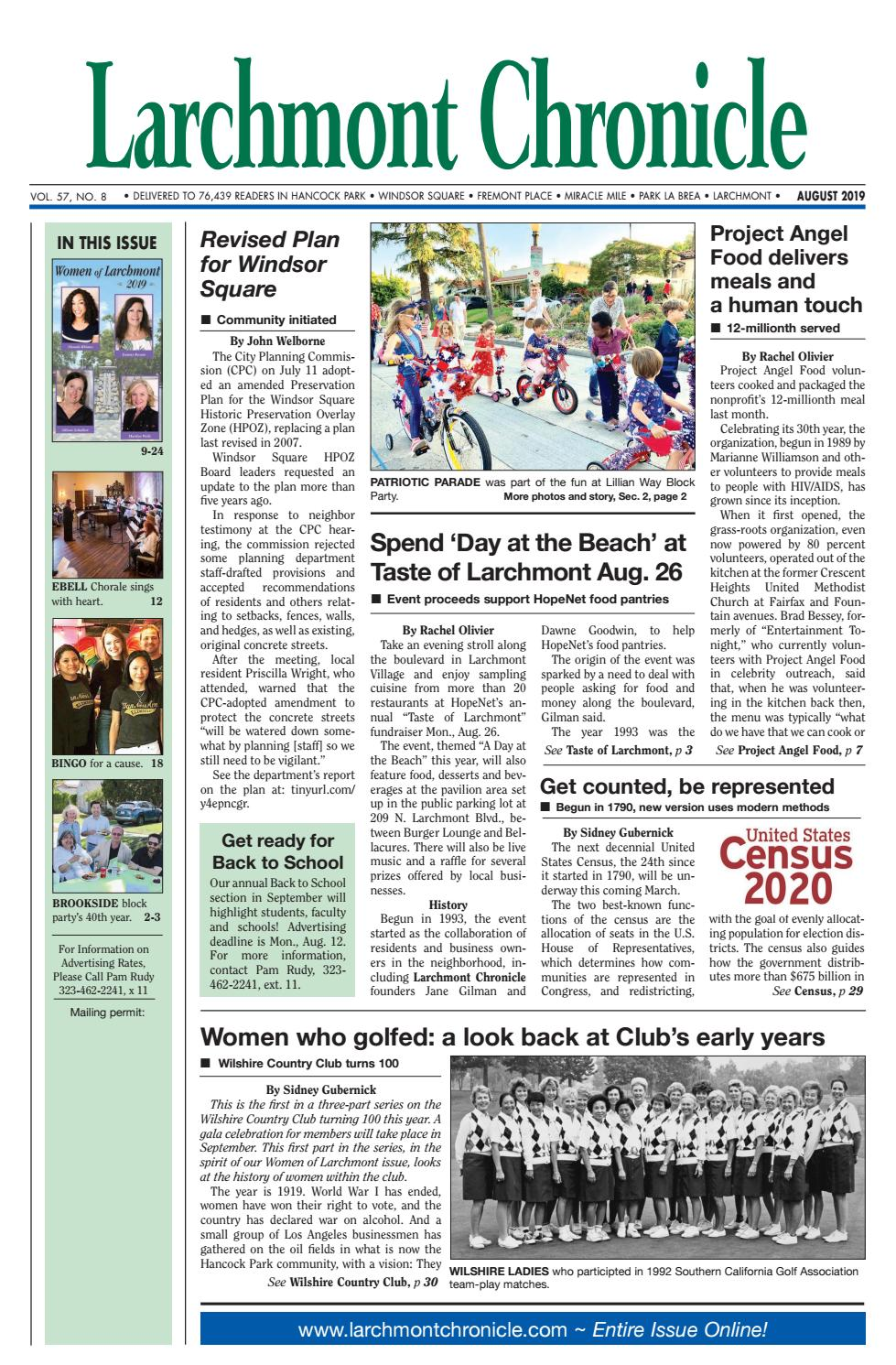 LC 08 2019 by Larchmont Chronicle - issuu