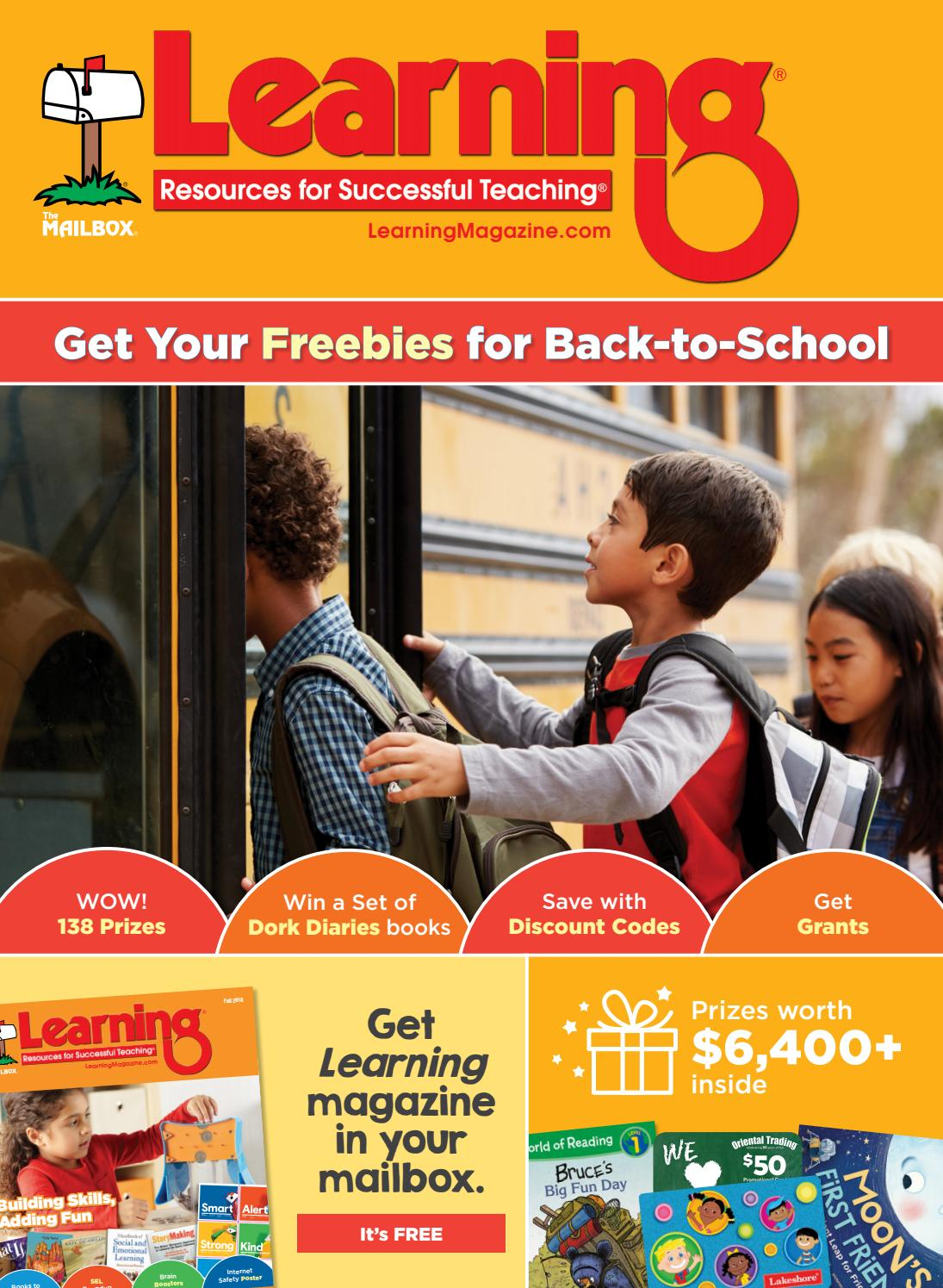 Learning Magazine Back to School Issue by Learning Magazine   issuu