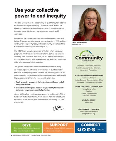Page 2 of Use your collective power to end inequity