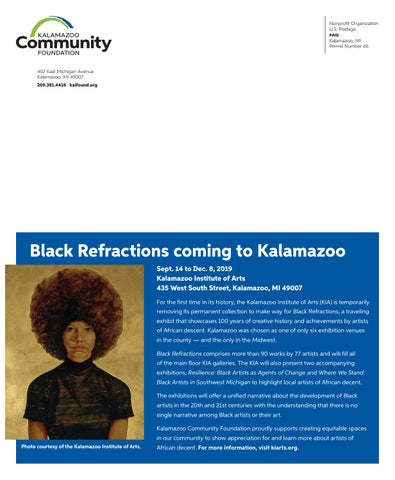 Page 8 of Black Refractions coming to Kalamazoo
