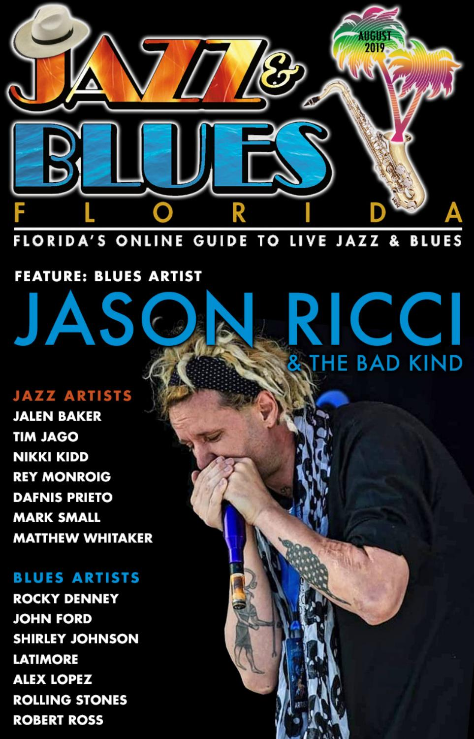 Jazz & Blues Florida August 2019 Issue by JazzBluesFlorida