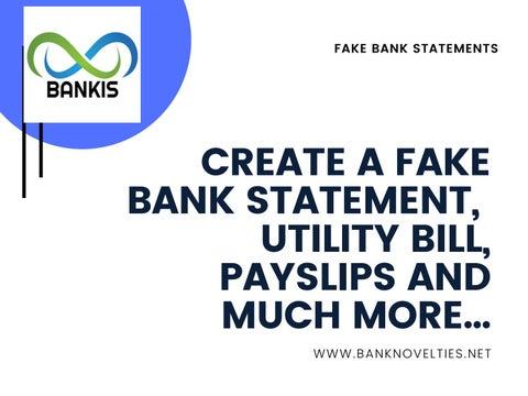 Make Fake Bank Statement By Bankis Issuu