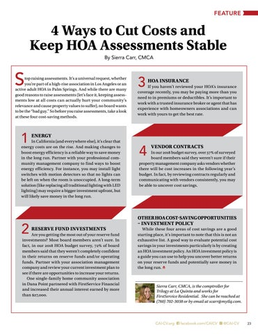 Page 23 of 4 Ways to Cut Cost and Keep HOA Assessments Stable