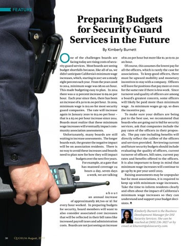 Page 30 of Preparing Budgets  for Security Guard  Services in the Future